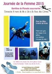 Affiche Journée de la Femme PLONGEE FFESSM 2